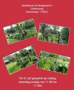 Expositie in de beeldentuin De Booghgaard in Callantsoog.